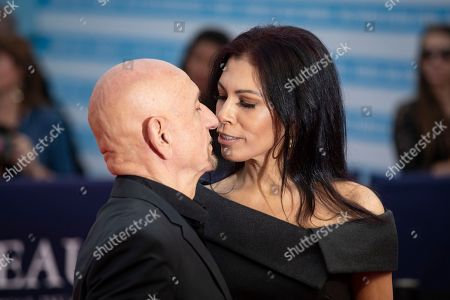British actor Sir Ben Kingsley (L) and his wife Daniela Lavender arrive on the red carpet prior to the premiere of 'Operation Finale' during the 44th Deauville American Film Festival, in Deauville, France, 08 September 2018. The festival runs from 31 August to 11 September.