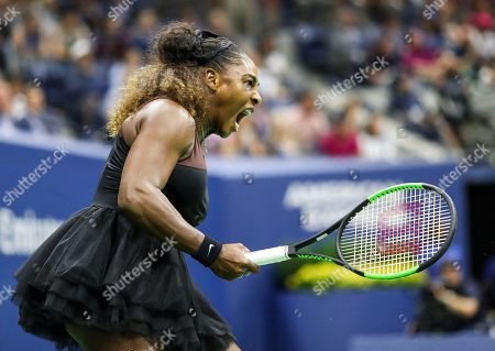 Serena Williams in action during the women's final