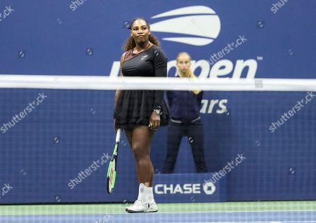 Serena Williams dejected during the women's final and