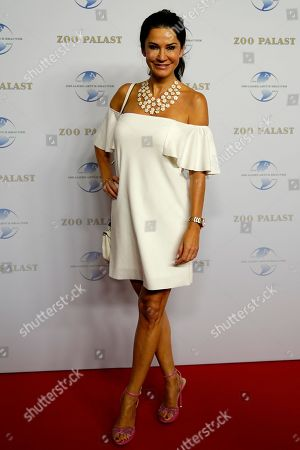 German actress Mariella Ahrens arrives on the red carpet of the gala on the occasion of the 100th birthday of German film producer Artur Brauner in Berlin, Germany, 08 September 2018. Artur 'Atze' Brauner celebrated his 100th birthday on 01 August 2018 in the company of his family. With the gala the film world wants to celebrate the producer officially in the Zoo Palast cinema. Around 700 invited guests from all over Europe were expected, including many companions and prominent actors.