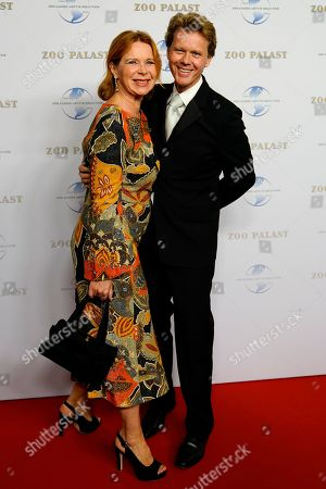 German actress Marion Kracht and her husband Berthold Manns  arrive on the red carpet of the gala on the occasion of the 100th birthday of German film producer Artur Brauner in Berlin, Germany, 08 September 2018. Artur 'Atze' Brauner celebrated his 100th birthday on 01 August 2018 in the company of his family. With the gala the film world wants to celebrate the producer officially in the Zoo Palast cinema. Around 700 invited guests from all over Europe were expected, including many companions and prominent actors.