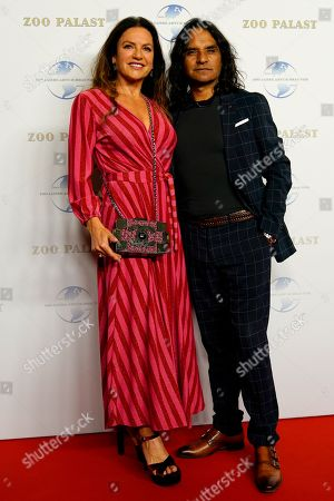 German actress Christine Neubauer and her partner the photographer Jose Campos from Chile arrive on the red carpet of the gala on the occasion of the 100th birthday of German film producer Artur Brauner in Berlin, Germany, 08 September 2018. Artur 'Atze' Brauner celebrated his 100th birthday on 01 August 2018 in the company of his family. With the gala the film world wants to celebrate the producer officially in the Zoo Palast cinema. Around 700 invited guests from all over Europe were expected, including many companions and prominent actors.