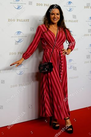 German actress Christine Neubauer arrives on the red carpet of the gala on the occasion of the 100th birthday of German film producer Artur Brauner in Berlin, Germany, 08 September 2018. Artur 'Atze' Brauner celebrated his 100th birthday on 01 August 2018 in the company of his family. With the gala the film world wants to celebrate the producer officially in the Zoo Palast cinema. Around 700 invited guests from all over Europe were expected, including many companions and prominent actors.
