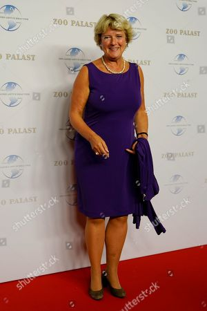 State Secretary for Culture Monika Gruetters arrives on the red carpet of the gala on the occasion of the 100th birthday of German film producer Artur Brauner in Berlin, Germany, 08 September 2018. Artur 'Atze' Brauner celebrated his 100th birthday on 01 August 2018 in the company of his family. With the gala the film world wants to celebrate the producer officially in the Zoo Palast cinema. Around 700 invited guests from all over Europe were expected, including many companions and prominent actors.