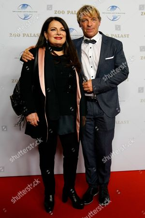 German Singer Marianne Rosenberg and actor Andre Eisermann arrive on the red carpet of the gala on the occasion of the 100th birthday of German film producer Artur Brauner in Berlin, Germany, 08 September 2018. Artur 'Atze' Brauner celebrated his 100th birthday on 01 August 2018 in the company of his family. With the gala the film world wants to celebrate the producer officially in the Zoo Palast cinema. Around 700 invited guests from all over Europe were expected, including many companions and prominent actors.