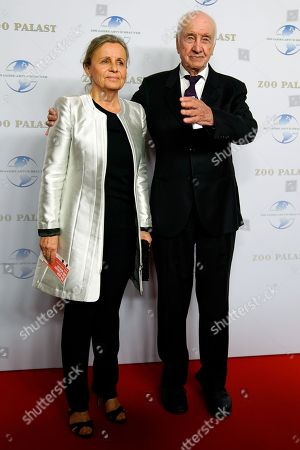 German actor Armin Mueller-Stahl (R) and his wife Gabriele Scholz arrive on the red carpet of a gala on the occasion of the 100th birthday of German film producer Artur Brauner in Berlin, Germany, 08 September 2018. Artur 'Atze' Brauner celebrated his 100th birthday on 01 August 2018 in the company of his family. With the gala, the film world wants to celebrate the producer officially in the Zoo Palast cinema. Around 700 invited guests from all over Europe are expected, including many companions and prominent actors.