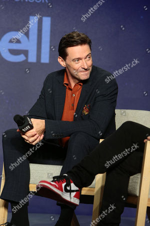 Hugh Jackman attends the 2018 Toronto International Film Festival press conference for Columbia Pictures' THE FRONT RUNNER at TIFF Bell Lightbox.