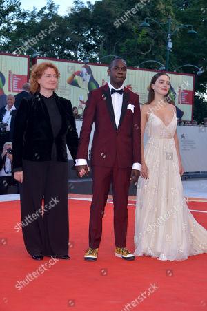 Aisling Franciosi, Baykali Ganambarr and Jennifer Kent