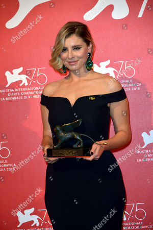 Editorial picture of Award Ceremony, Press Room, 75th Venice International Film Festival, Italy - 08 Sep 2018