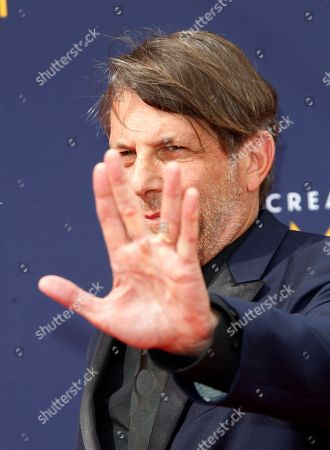 Stock Image of Adam Nimoy arrives for the 2018 Creative Arts Emmy Awards at the Microsoft Theater in Los Angeles, California, USA, 08 September 2018. The Creative Arts Emmy Awards honor excellence in Television technical categories such as makeup, casting direction, costume design, editing and cinematography. The 70th Primetime Emmy Awards Ceremony will take place on 17 September 2018.