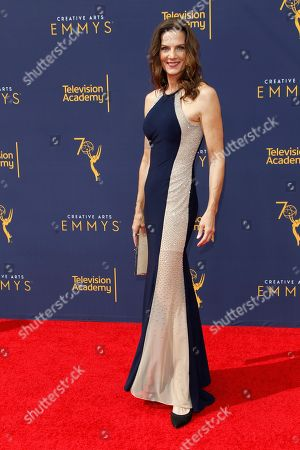Terry Farrell arrives for the 2018 Creative Arts Emmy Awards at the Microsoft Theater in Los Angeles, California, USA, 08 September 2018. The Creative Arts Emmy Awards honor excellence in Television technical categories such as makeup, casting direction, costume design, editing and cinematography. The 70th Primetime Emmy Awards Ceremony will take place on 17 September 2018.