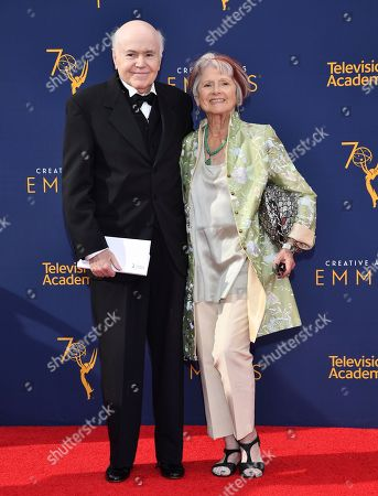 Walter Koenig, Judy Levitt. Walter Koenig, left, and Judy Levitt arrive at night one of the Television Academy's 2018 Creative Arts Emmy Awards at the Microsoft Theater, in Los Angeles