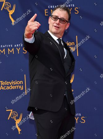 Mathew Waters arrives at night one of the Television Academy's 2018 Creative Arts Emmy Awards at the Microsoft Theater, in Los Angeles