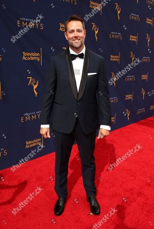 Jake Zim arrives at night one of the Television Academy's 2018 Creative Arts Emmy Awards at the Microsoft Theater, in Los Angeles