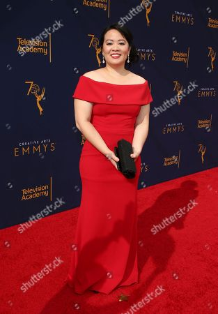 Mynette Louie arrives at night one of the Television Academy's 2018 Creative Arts Emmy Awards at the Microsoft Theater, in Los Angeles