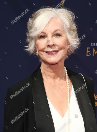 Christina Pickles arrives at night one of the Television Academy's 2018 Creative Arts Emmy Awards at the Microsoft Theater, in Los Angeles