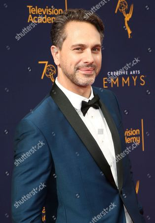 Thomas Sadoski arrives at night one of the Television Academy's 2018 Creative Arts Emmy Awards at the Microsoft Theater, in Los Angeles