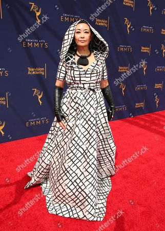 Ane Crabtree arrives at night one of the Television Academy's 2018 Creative Arts Emmy Awards at the Microsoft Theater, in Los Angeles