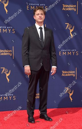 Cyrille Aufort arrives at night one of the Creative Arts Emmy Awards at The Microsoft Theater, in Los Angeles