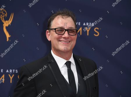 Mathew Waters arrives at night one of the Creative Arts Emmy Awards at The Microsoft Theater, in Los Angeles