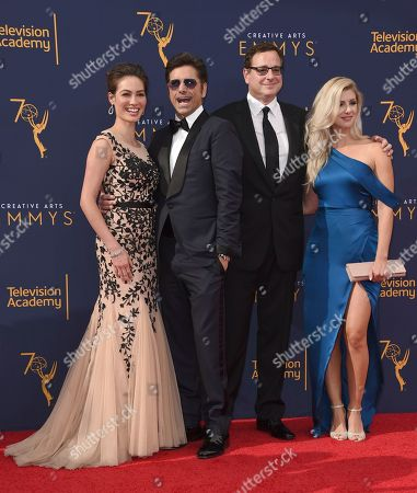 Caitlin McHugh, John Stamos, Bob Saget, Kelly Rizzo. Caitlin McHugh and, from left, John Stamos, Bob Saget, Kelly Rizzo arrive at night one of the Creative Arts Emmy Awards at The Microsoft Theater, in Los Angeles