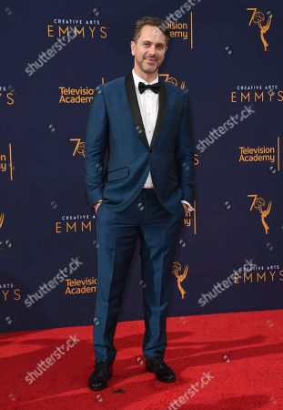Thomas Sadoski arrives at night one of the Creative Arts Emmy Awards at The Microsoft Theater, in Los Angeles