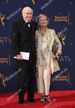 Walter Koenig, Judy Levitt. Walter Koenig, left, and Judy Levitt arrive at night one of the Creative Arts Emmy Awards at The Microsoft Theater, in Los Angeles