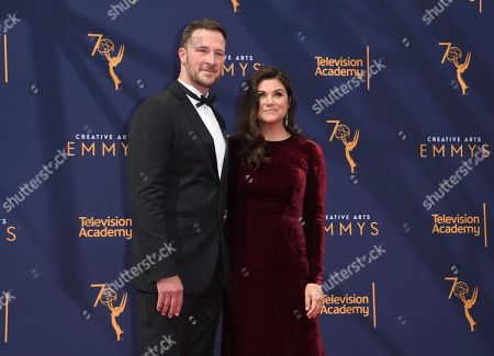 Brady Smith, Tiffani Thiessen. Brady Smith, left, and Tiffani Thiessen arrive at night one of the Creative Arts Emmy Awards at The Microsoft Theater, in Los Angeles