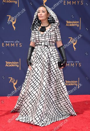 Ane Crabtree arrives at night one of the Creative Arts Emmy Awards at The Microsoft Theater, in Los Angeles