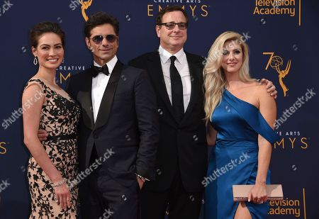 Caitlin McHugh, John Stamos, Bob Saget, Kelly Rizzo. Caitlin McHugh, from left, John Stamos, Bob Saget, Kelly Rizzo and arrive at night one of the Creative Arts Emmy Awards at The Microsoft Theater, in Los Angeles