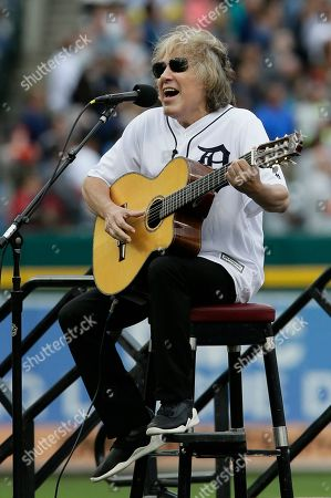 Jose Feliciano, who sang an alternate version of the national anthem before Game 5 of the 1968 World Series, sings the national anthem before the Detroit Tigers baseball game against the St. Louis Cardinals, in Detroit. The Tigers celebrated the 50th Anniversary of the 1968 World Series Saturday