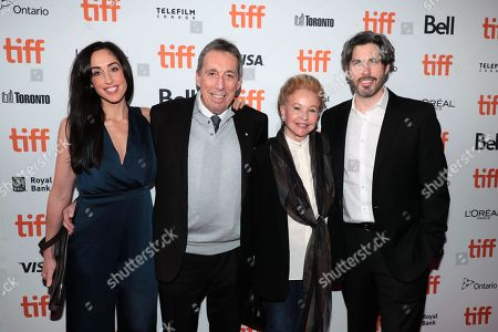 Stock Image of Catherine Reitman, Ivan Reitman, Genevieve Robert and Jason Reitman, Writer/Director/Producer,