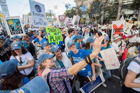 Editorial picture of Cool Effect Marches to Support the Rise for Climate, Jobs & Justice in , San Francisco, USA - 08 Sep 2018