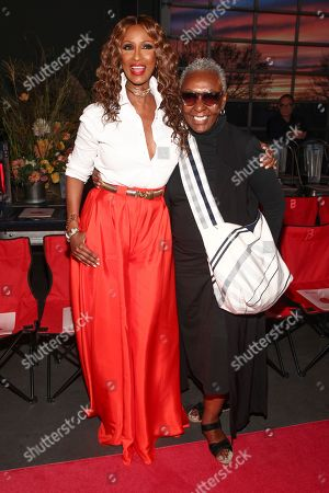 Iman, Bethann Hardison. Iman, left, and Bethann Hardison, right, attend the NYFW Spring/Summer 2019 Brandon Maxwell fashion show at Classic Car Club Manhattan, in New York