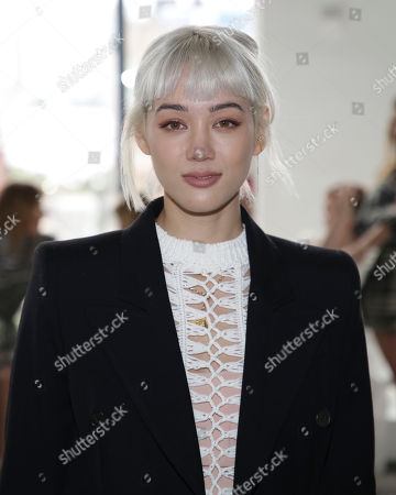 Stock Image of Kim Cam Jones attends the Self Portrait Runway Show held at Spring Studios during New York Fashion Week, in New York