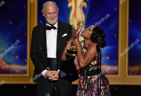 Gerald McRaney, Tichina Arnold. Gerald McRaney, left, and Tichina Arnold during night one of the Television Academy's 2018 Creative Arts Emmy Awards at the Microsoft Theater, in Los Angeles