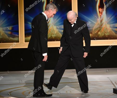 Bill Nye, Walter Koenig. Bill Nye, left, and Walter Koenig during night one of the Television Academy's 2018 Creative Arts Emmy Awards at the Microsoft Theater, in Los Angeles