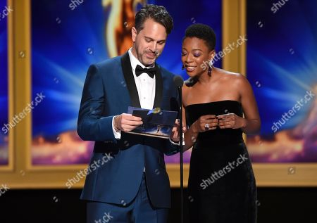 Thomas Sadoski, Samira Wiley. Thomas Sadoski, left, and Samira Wiley during night one of the Television Academy's 2018 Creative Arts Emmy Awards at the Microsoft Theater, in Los Angeles