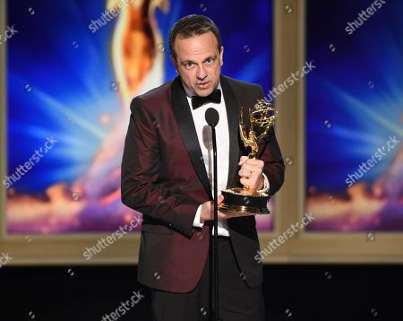 Cyrille Aufort during night one of the Television Academy's 2018 Creative Arts Emmy Awards at the Microsoft Theater, in Los Angeles