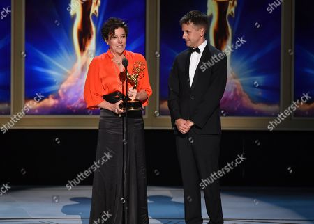 Nina Gold, Robert Sterne. Nina Gold, left, and Robert Sterne during night one of the Television Academy's 2018 Creative Arts Emmy Awards at the Microsoft Theater, in Los Angeles