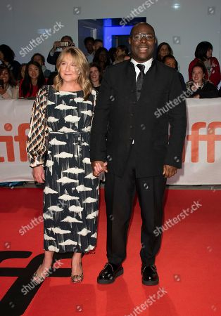 English director Steve McQueen (R) and his wife Bianca Stigter (L) arrive for the screening of the movie 'Widows' during the 43rd annual Toronto International Film Festival (TIFF) in Toronto, Canada, 08 September 2018. The festival runs 06 to 16 September.