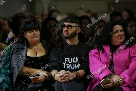 Stock Picture of Brad Walsh, center, attends the Christian Siriano Runway Show held at Gotham Hall during New York Fashion Week, in New York