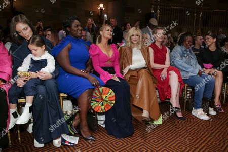 Coco Rocha, Ioni James Conran, Danielle Brooks, Carmen Electra, Judith Light, Cynthia Nixon, Whoopi Goldberg, Sarah Hyland. Coco Rocha, from left, Ioni James Conran, Danielle Brooks, Carmen Electra, Judith Light, Cynthia Nixon, Whoopi Goldberg and Sarah Hyland attend the Christian Siriano Runway Show held at Gotham Hall during New York Fashion Week, in New York