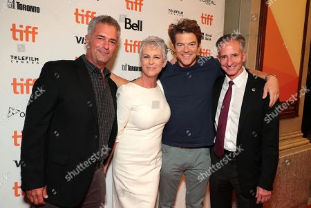 Stock Photo of Malek Akkad, Producer, Jamie Lee Curtis, Executive Producer, Jason Blum, Producer, Bill Block, Producer
