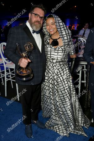 Mark White, Ane Crabtree. Mark White, left, and Ane Crabtree attends the Governors Ball during night one of the Television Academy's 2018 Creative Arts Emmy Awards at the Microsoft Theater, in Los Angeles