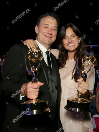 Mathew Waters, Onnalee Blank. Mathew Waters, left, and Onnalee Blank attend the Governors Ball during night one of the Television Academy's 2018 Creative Arts Emmy Awards at the Microsoft Theater, in Los Angeles