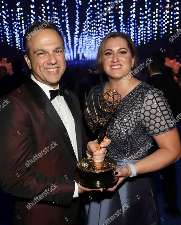 Cyrille Aufort attends the Governors Ball during night one of the Television Academy's 2018 Creative Arts Emmy Awards at the Microsoft Theater, in Los Angeles