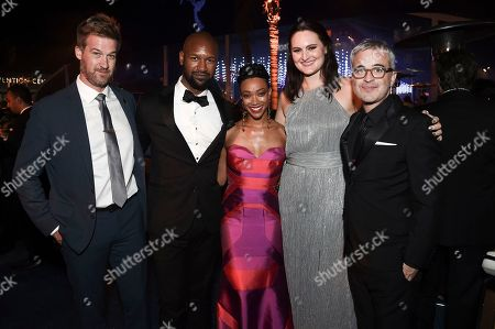 Kenneth Mitchell, Kenric Green, Sonequa Martin-Green, Mary Chieffo, Alex Kurtzman. Kenneth Mitchell, from left, Kenric Green, Sonequa Martin-Green, Mary Chieffo and Alex Kurtzman attend the Governors Ball during night one of the Television Academy's 2018 Creative Arts Emmy Awards at the Microsoft Theater, in Los Angeles