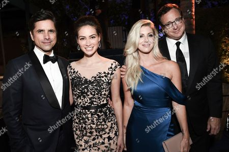 John Stamos, Caitlin McHugh, Kelly Rizzo, Bob Saget. John Stamos, from left, Caitlin McHugh, Kelly Rizzo and Bob Saget attend the Governors Ball during night one of the Television Academy's 2018 Creative Arts Emmy Awards at the Microsoft Theater, in Los Angeles