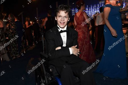 Micah Fowler attends the Governors Ball during night one of the Television Academy's 2018 Creative Arts Emmy Awards at the Microsoft Theater, in Los Angeles